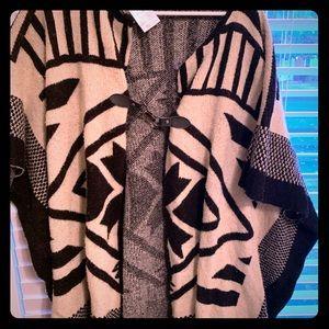 Tribal Navajo knit 🧶 cape